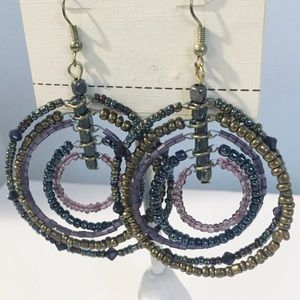 [Sonoma] Layered Beaded Statement Earrings
